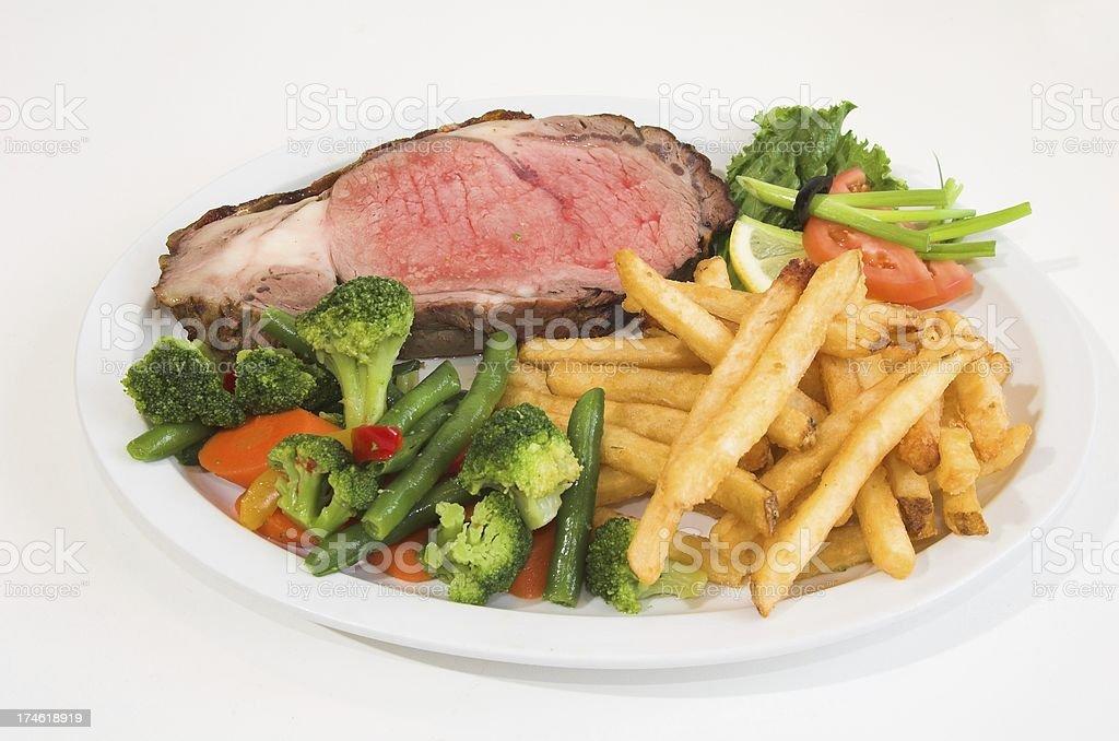 Beef prime rib royalty-free stock photo