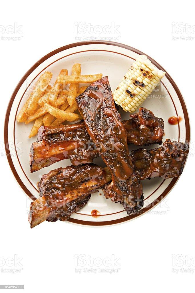 Beef Rib Dinner stock photo