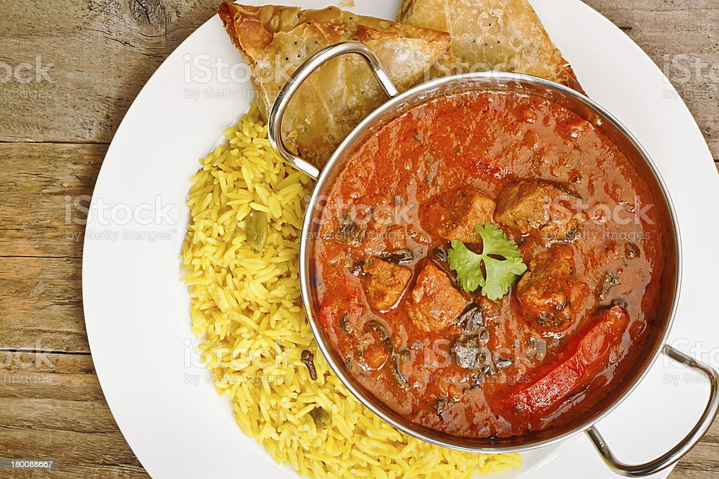 Beef Rogan Josh balti dish stock photo