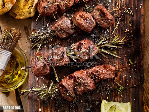BBQ, Beef, Rosemary Skewers-Photographed on a Hasselblad H3D11-39 megapixel Camera System
