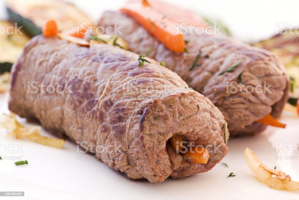 Roulades de carne - foto de acervo