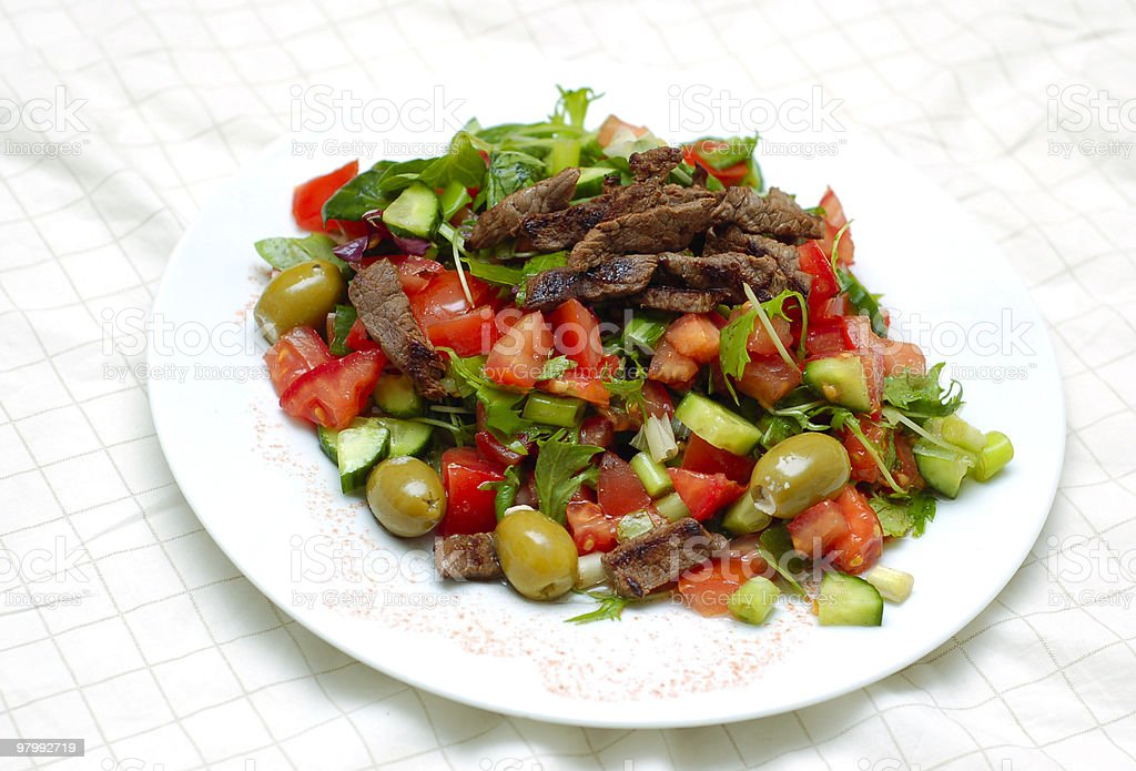 Beef Salad royalty free stockfoto