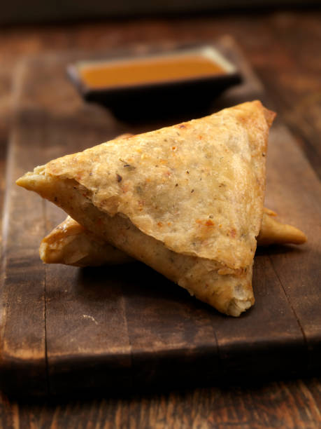 beef  samosa - samosa stock photos and pictures