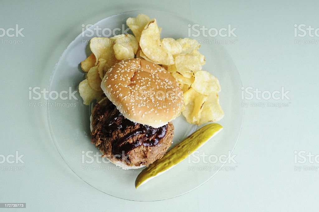 BBQ Beef Sandwich royalty-free stock photo