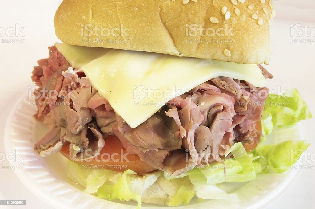 beef sandwich royalty-free stock photo