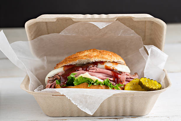 Beef Sandwich To Go stock photo