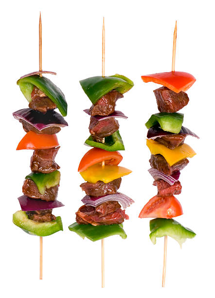 Beef Shishkabobs 8 stock photo