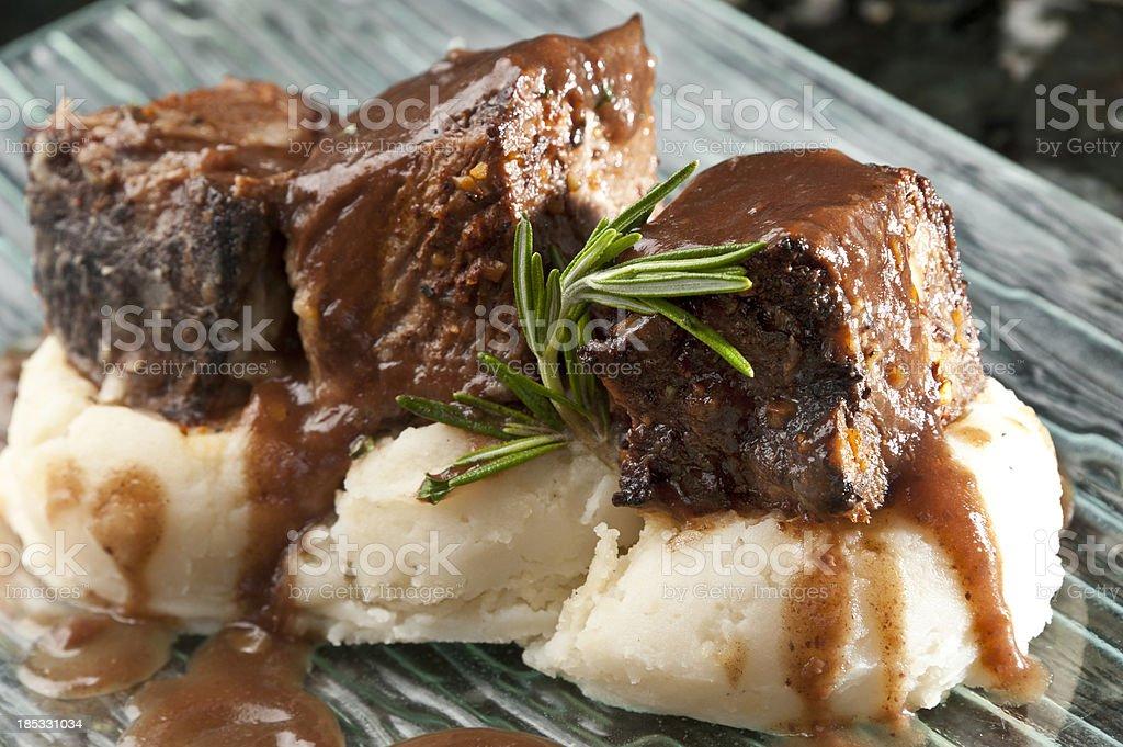 Beef short ribs stock photo