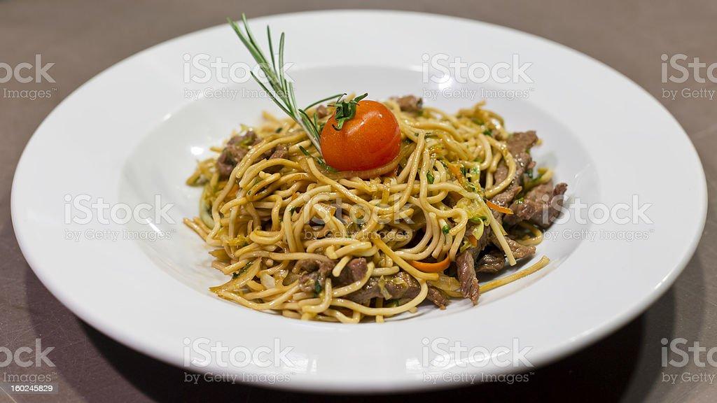 Beef Spaghetti royalty-free stock photo
