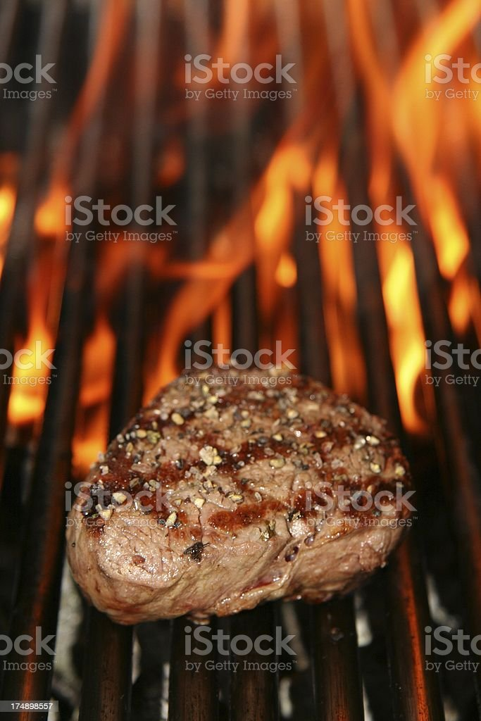beef steak and fire royalty-free stock photo