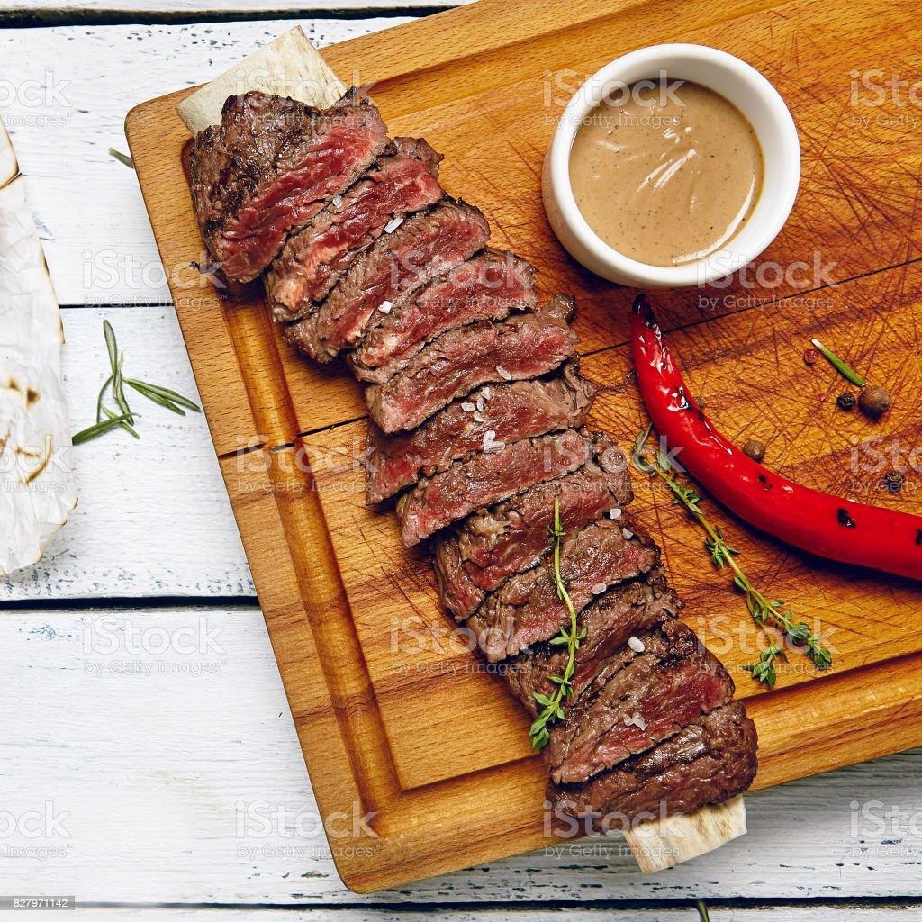 Beef Steak Dinner stock photo