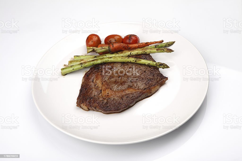 beef steak in white background royalty-free stock photo