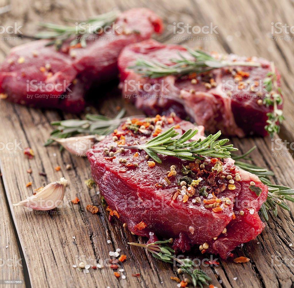 Beef steak. royalty-free stock photo