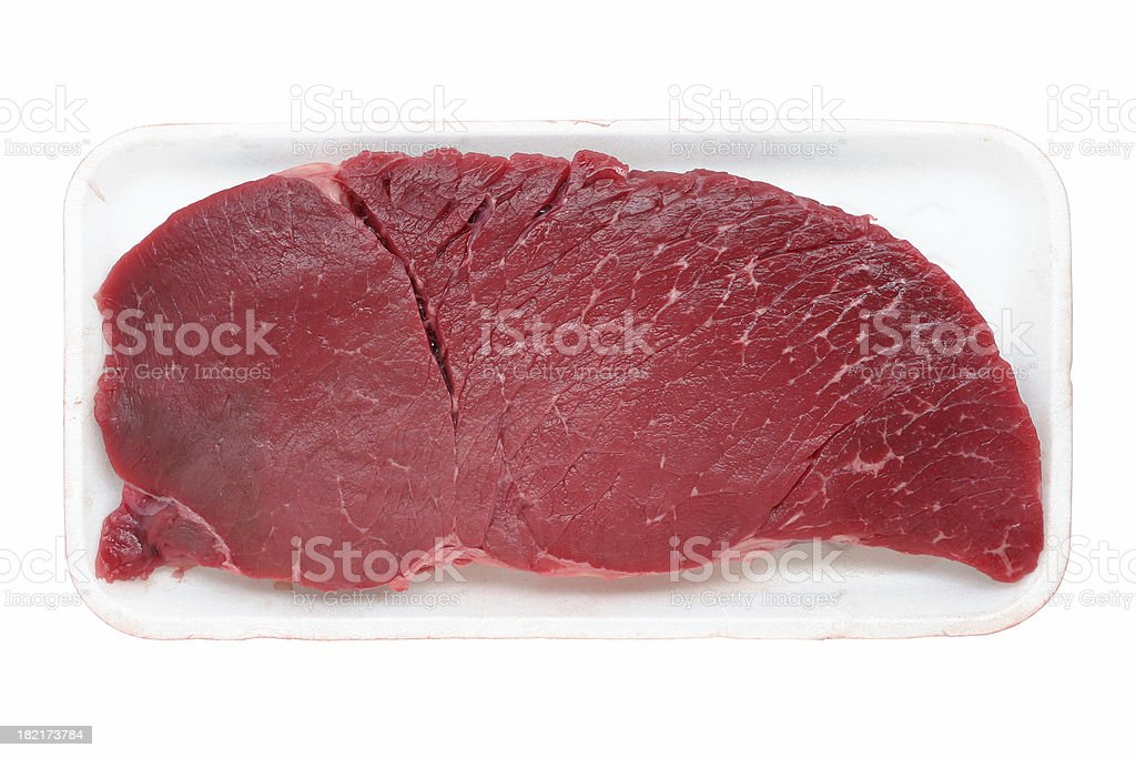 beef steak (top round) royalty-free stock photo