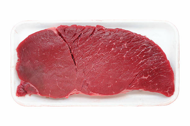 carne de vaca (topo round - meat texture imagens e fotografias de stock