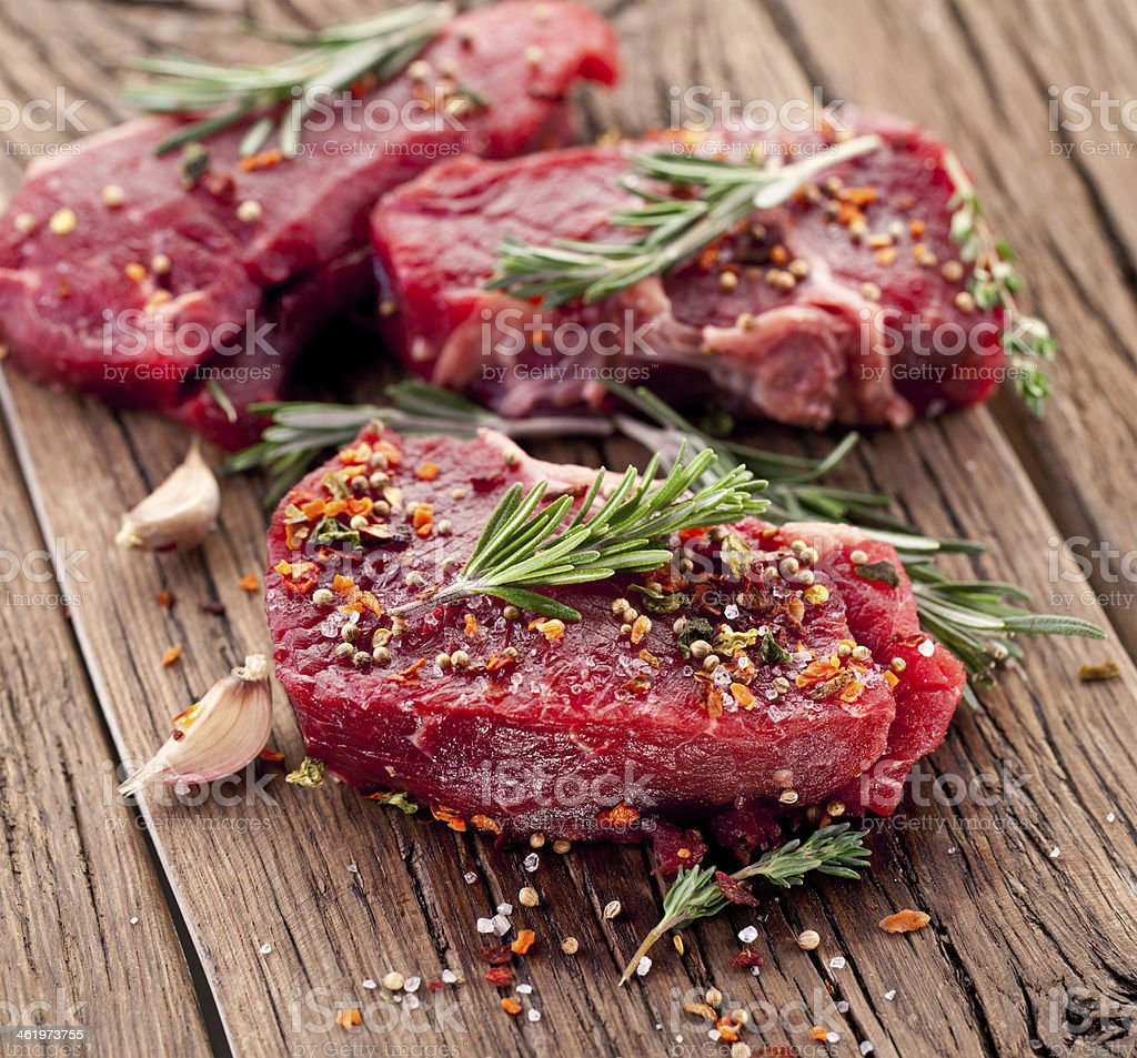 Beef steak. stock photo