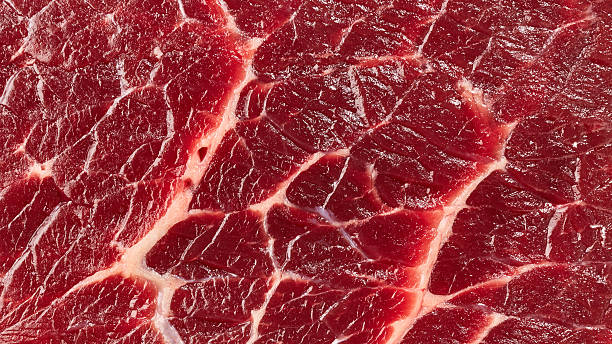 carne de vaca - meat texture imagens e fotografias de stock