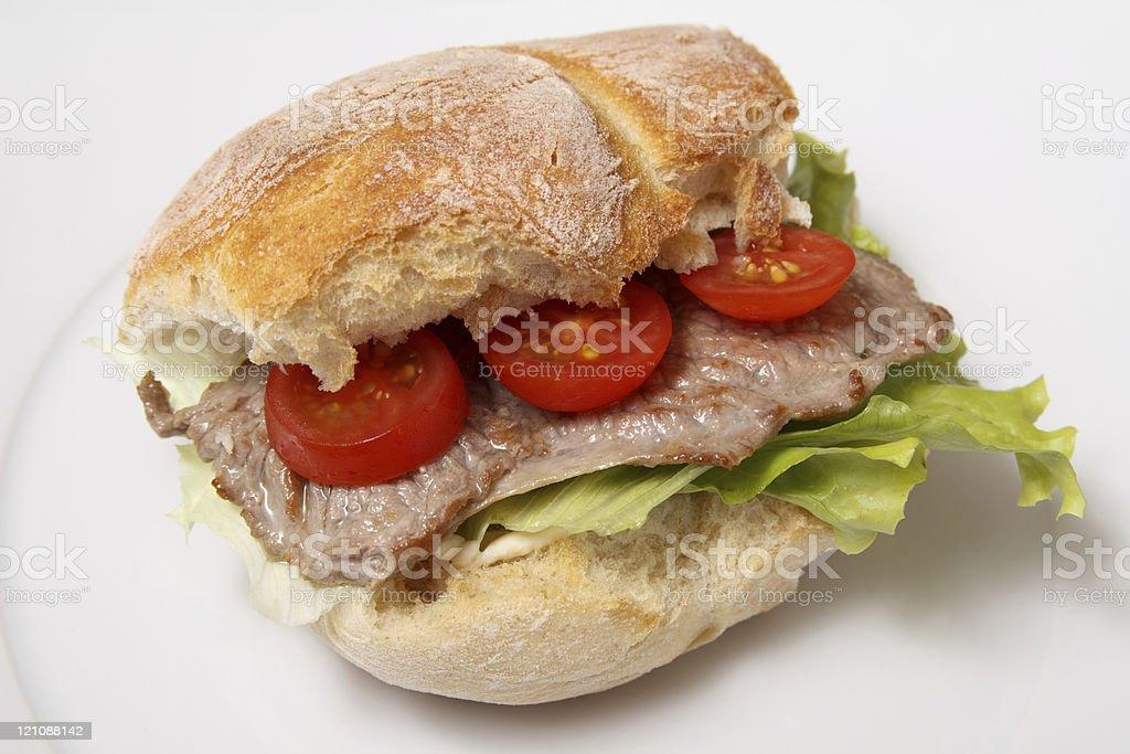 Sanduíche de Carne de Vaca - fotografia de stock