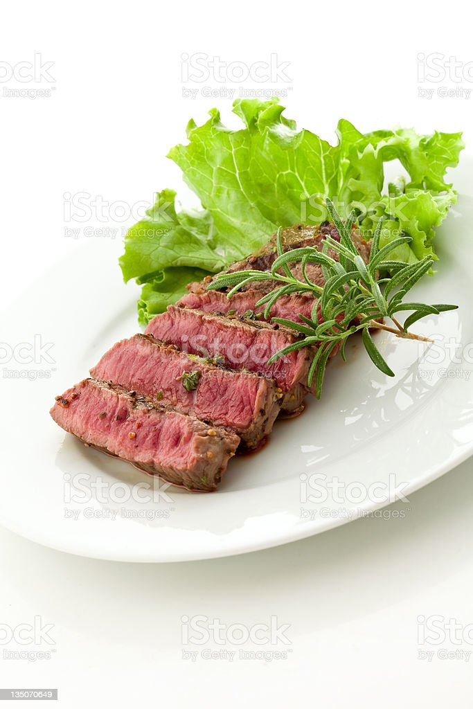 Beef steak with rosemary royalty-free stock photo