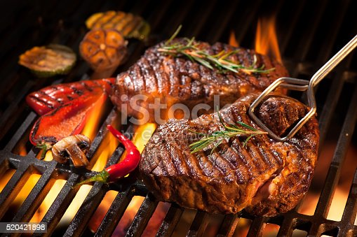 istock Beef steaks on the grill 520421898