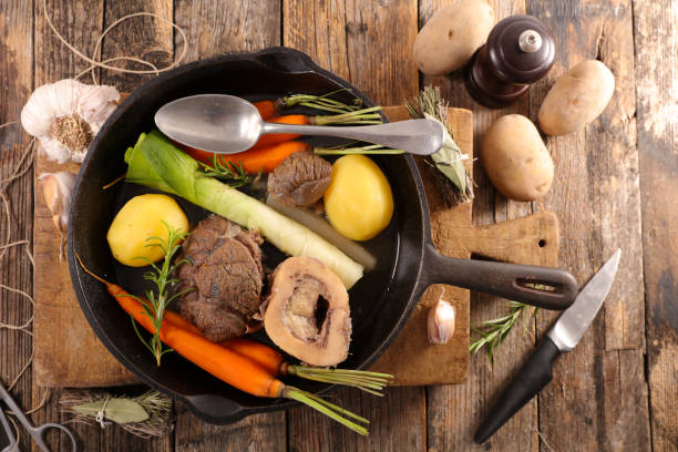 beef stew and vegetable, pot au feu beef stew and vegetable, pot au feu pot au feu stock pictures, royalty-free photos & images
