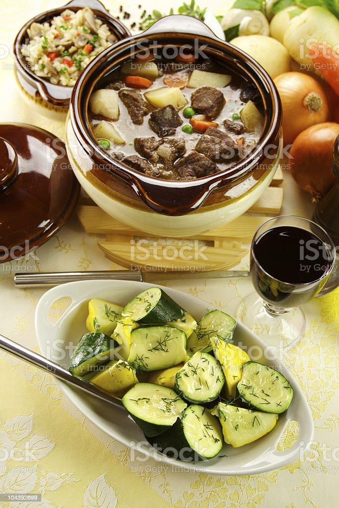 Beef Stew With Zucchini royalty-free stock photo