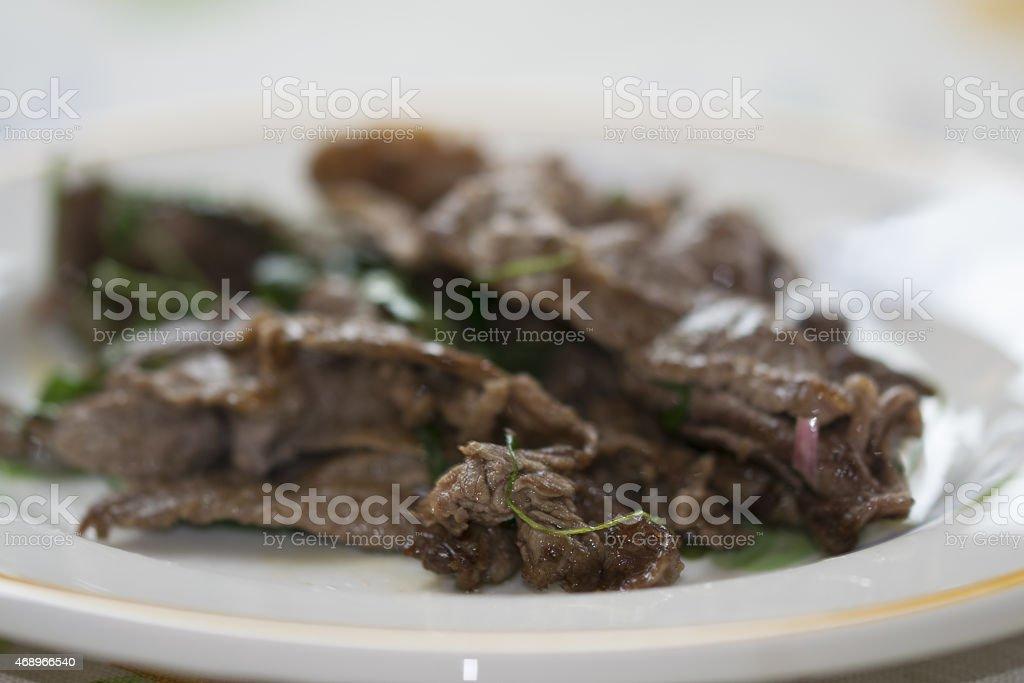 beef strips stock photo