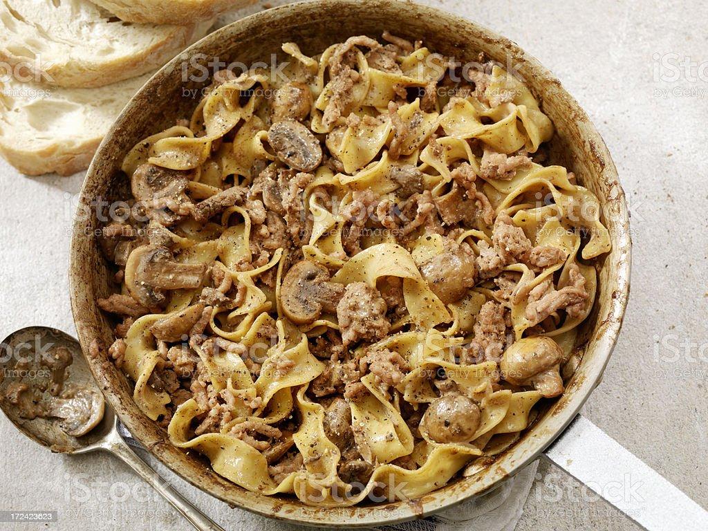 Beef Stroganoff stock photo