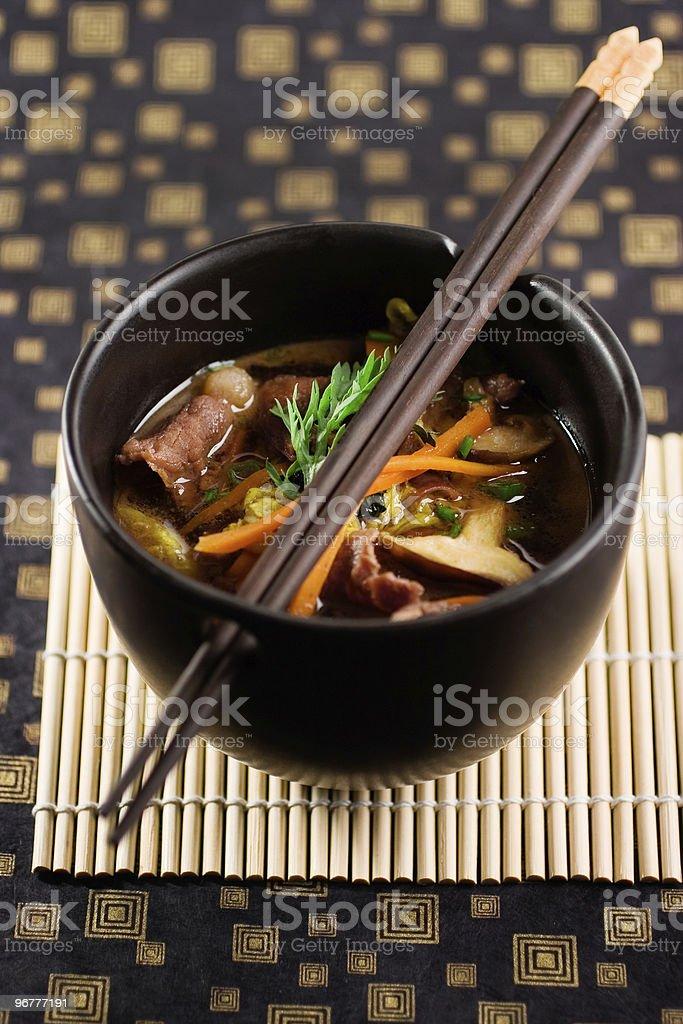 Beef Sukiyaki stock photo