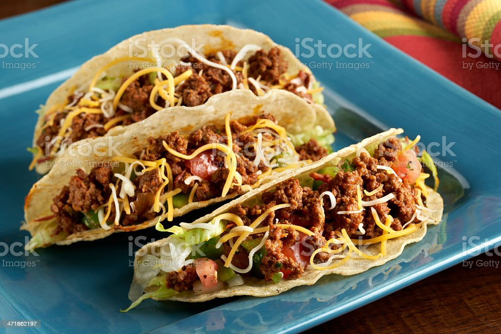 Beef Taco in Hard Shell royalty-free stock photo