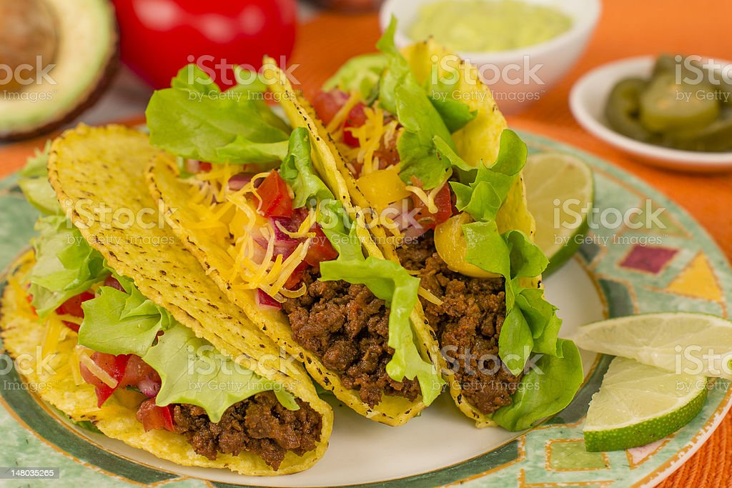Beef Tacos royalty-free stock photo