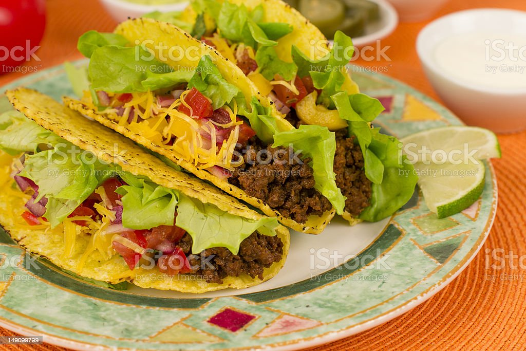 Beef Tacos stock photo