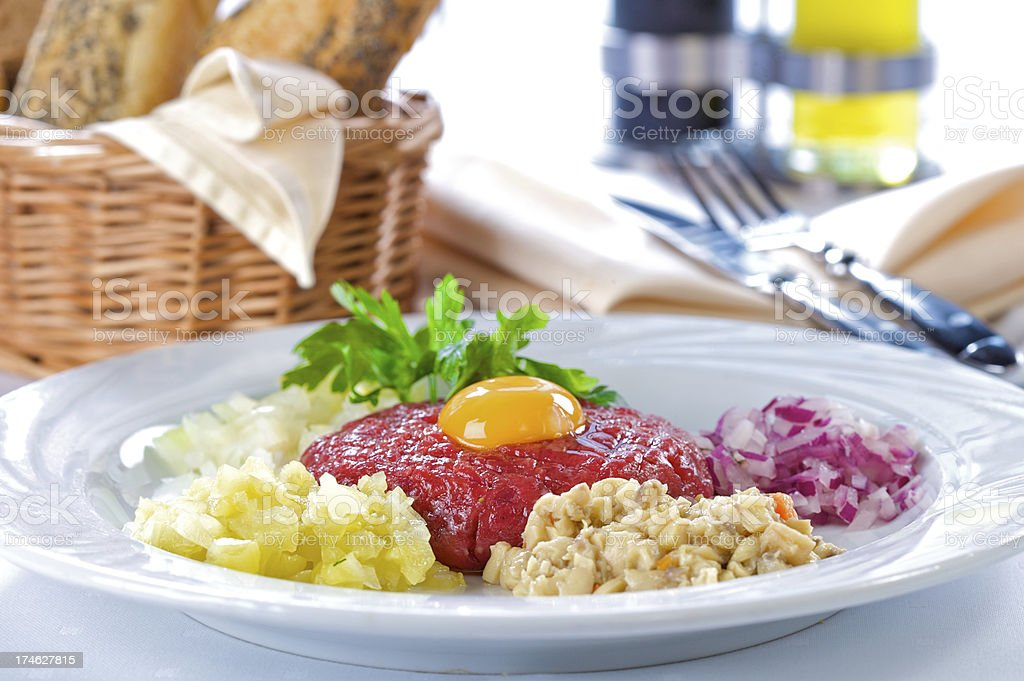 Beef tartare royalty-free stock photo