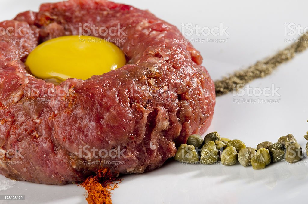 Beef tartare royalty-free stock photo
