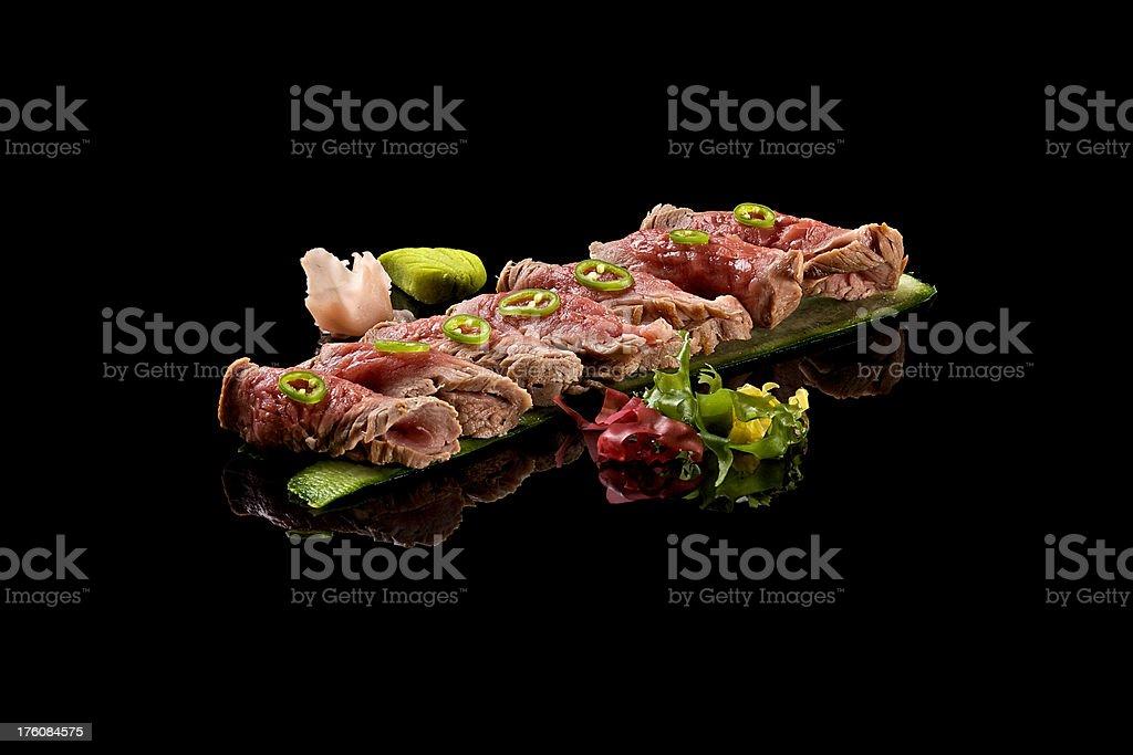 Beef tataki stock photo