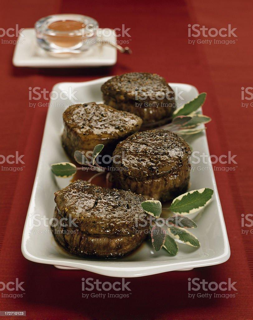 Beef Tenderloin / Filet Mignon with sage royalty-free stock photo