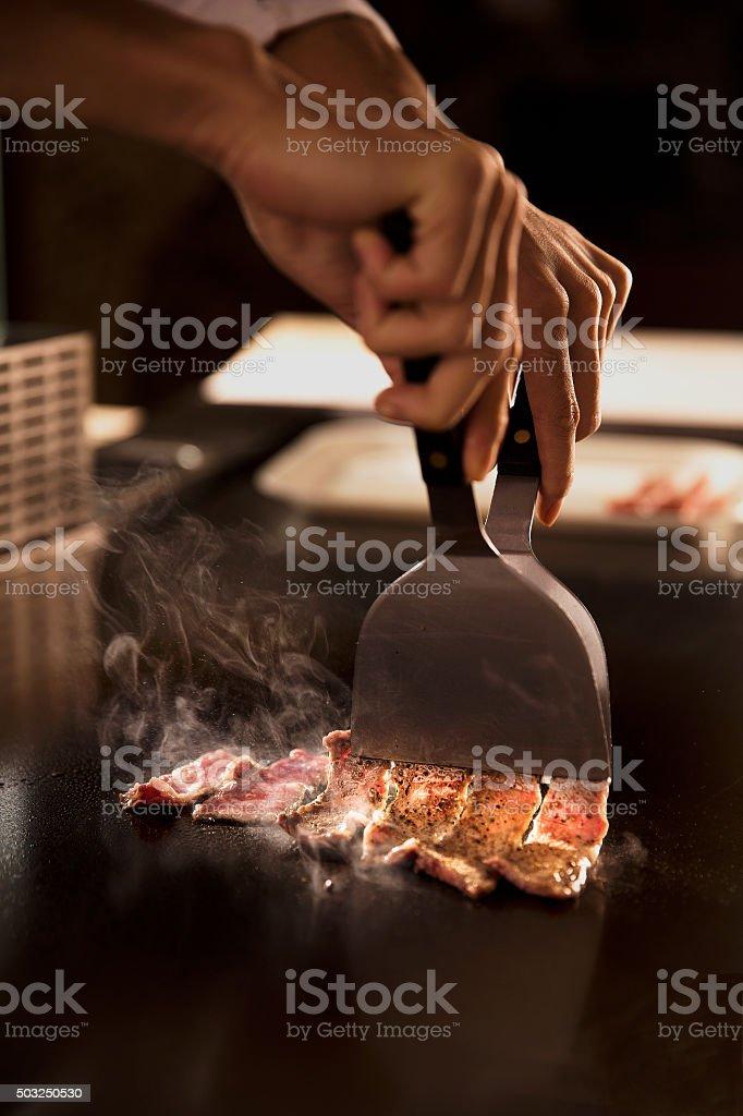 Beef Teppanyaki stock photo