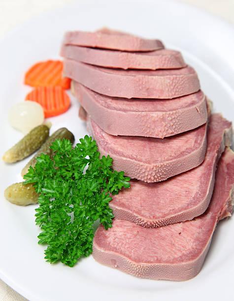 Beef tongue stock photo