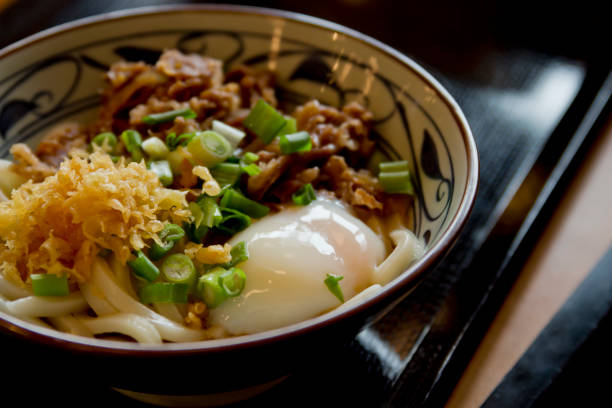 Beef Udon with Soft-boiled Egg