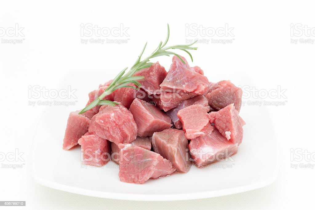 Beef veal for stew stock photo