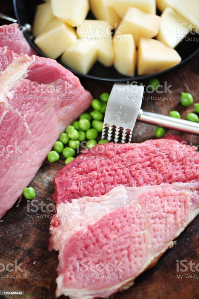 Wołowina, warzywa tła - Zbiór zdjęć royalty-free (Brokuł)