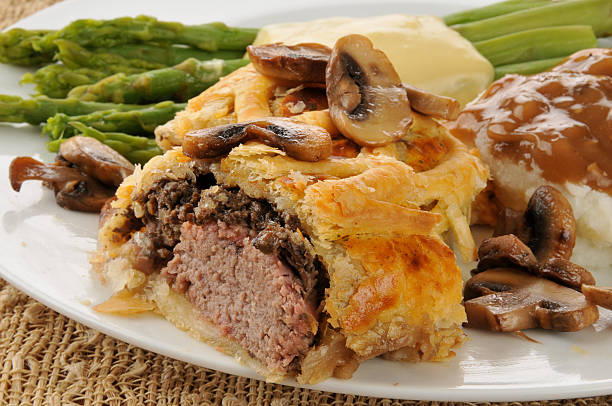 Beef Wellington Close up stock photo