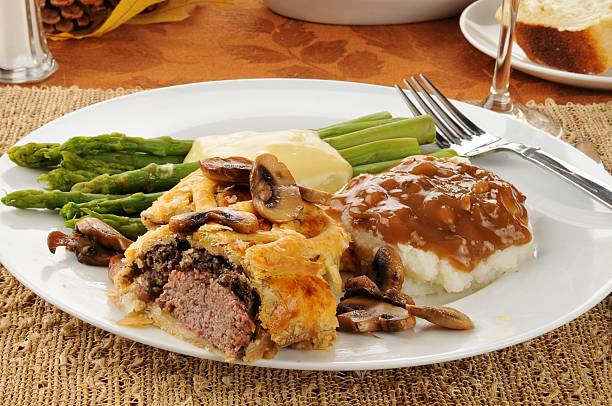 Beef Wellington Dinner stock photo