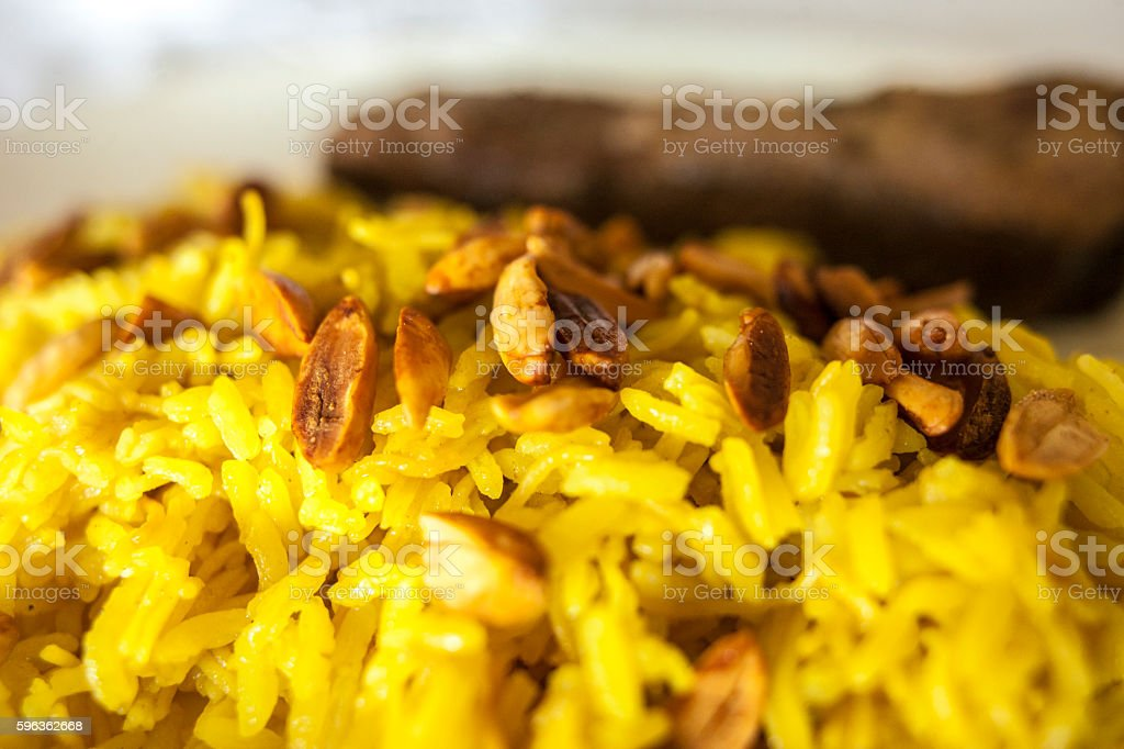 beef with rice Arabic royalty-free stock photo
