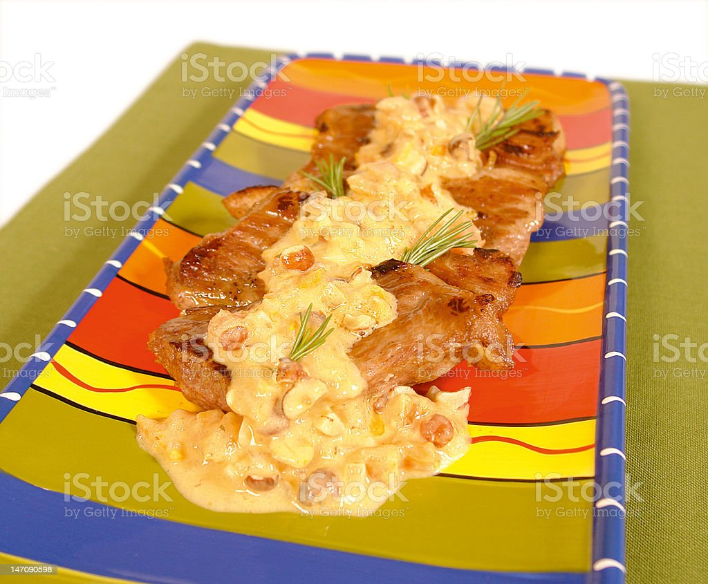 Beef with sauce stock photo