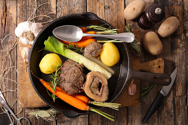 beef with vegetable and broth,pot au feu beef with vegetable and broth,pot au feu pot au feu stock pictures, royalty-free photos & images