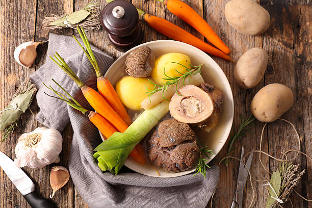 beef with vegetable,pot au feu beef with vegetable,pot au feu pot au feu stock pictures, royalty-free photos & images