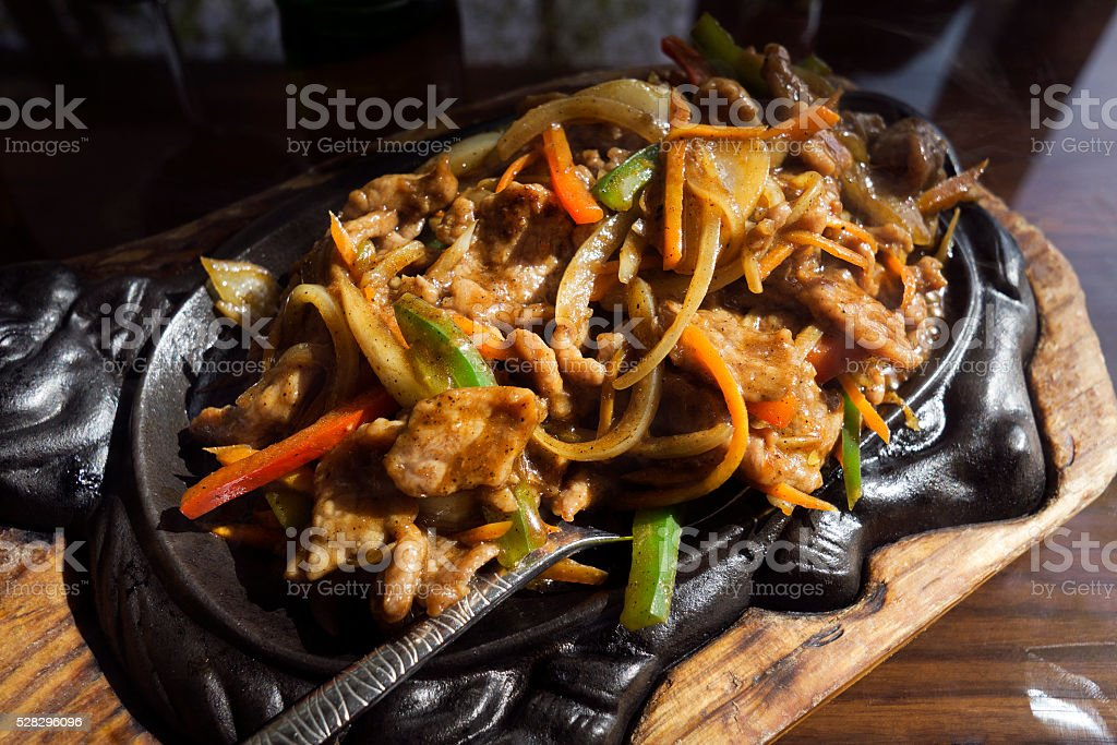 Beef with vegetables stock photo