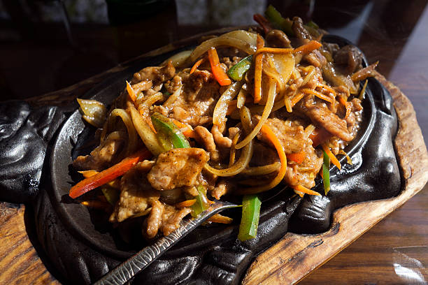 Beef with vegetables Chinese food. Stir fry beef with vegetables sauce. mongolian culture stock pictures, royalty-free photos & images