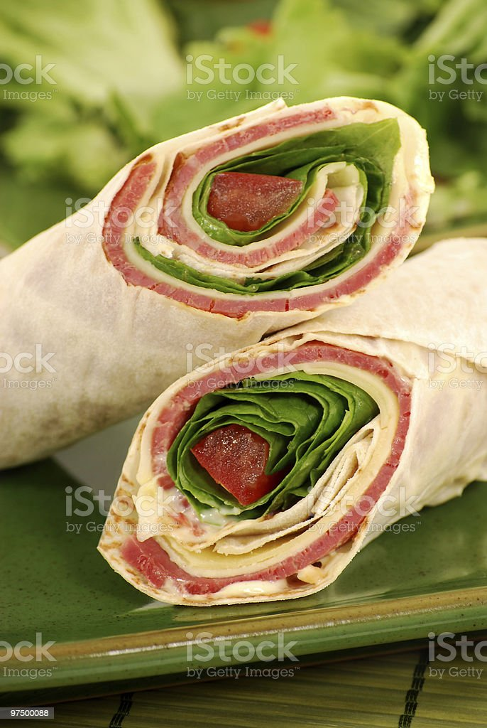 Beef wrap sandwiches royalty-free stock photo